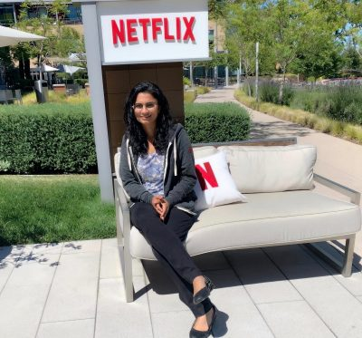 Sneha Mehta has served as a machine learning intern for two consecutive summers at Netflix headquarters in Los Gatos, California.